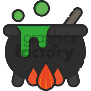 Cauldron vector art clipart. Commercial use image # 404102