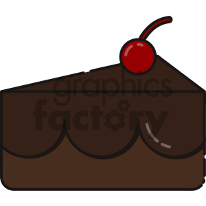 slice of chocolate cake vector art clipart. Royalty-free image # 404136