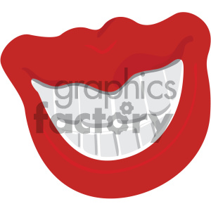 lips with big teeth vector clipart. Royalty-free icon # 404151