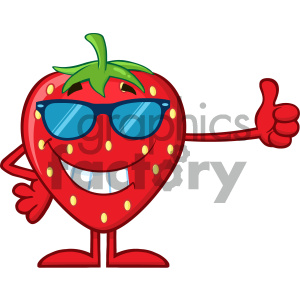 Royalty Free RF Clipart Illustration Smiling Strawberry Fruit Cartoon Mascot Character Training With Dumbbells Vector Illustration Isolated On White Background_1 clipart. Royalty-free image # 404316