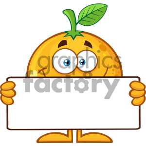 cartoon food mascot character vector happy fun holding summer orange