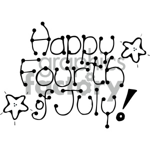 4th+of+july america USA patriotic black+white cartoon