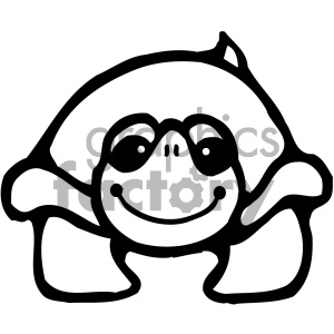 cartoon clipart Noahs animals turtle 004 bw clipart. Royalty-free image # 404761