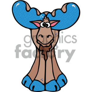cartoon clipart moose 018 c clipart. Commercial use image # 404801