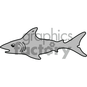 cartoon animals vector PR shark