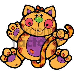 cartoon clipart cat 002 c clipart. Royalty-free image # 404827