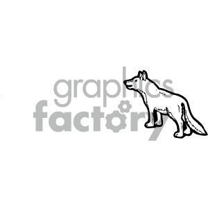 cartoon clipart dog 003 bw clipart. Royalty-free image # 404887