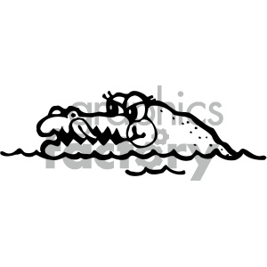 cartoon clipart reptiles 003 bw clipart. Royalty-free image # 404891
