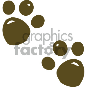 cartoon clipart animal tracks 001 c clipart. Commercial use image # 404901