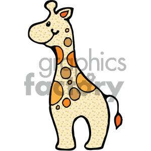cartoon Noahs animals giraffe clipart. Royalty-free image # 404931