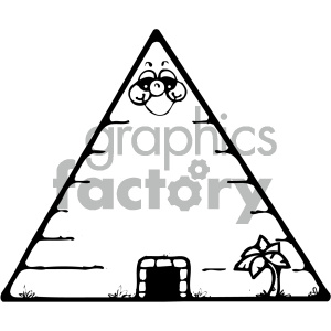 egyptian pyramid 001 bw clipart. Royalty-free image # 405034