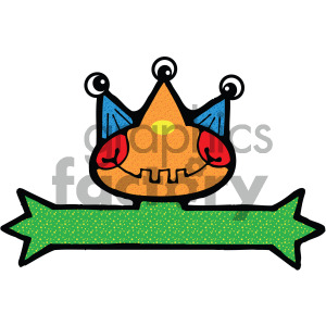 vector art monster 002 c clipart. Commercial use image # 405064