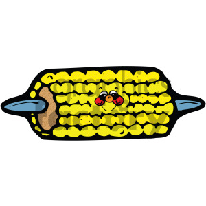 cartoon vector corn on the cob clipart. Royalty-free image # 405075