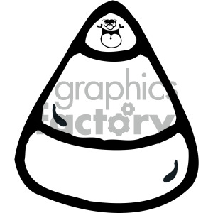 vector candy corn black white clipart. Royalty-free image # 405114