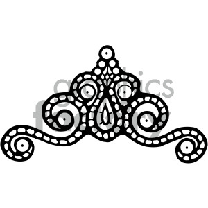 black white royal princess crown clipart. Commercial use image # 405145