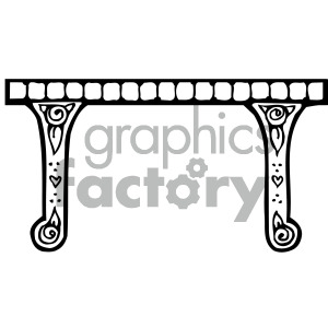 furniture black white table clipart. Royalty-free image # 405157
