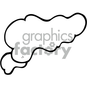 cloud vector image clipart. Royalty-free image # 405204