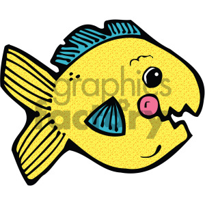 cartoon fish yellow goldfish
