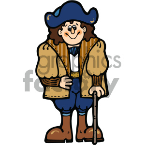 cartoon people human character cute pirate