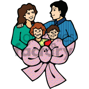 cartoon family vector art clipart. Commercial use image # 405321