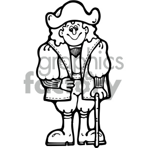 christopher columbus 001 bw clipart. Royalty-free image # 405373