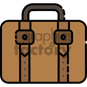 suitcase vector royalty free icon art clipart. Royalty-free image # 405405