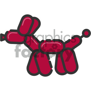 balloon animal vector royalty free icon art clipart. Royalty-free image # 405406