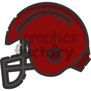 sports helmet vector royalty free icon art clipart. Royalty-free image # 405414