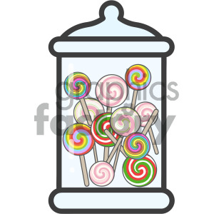 lollipop jar vector royalty free icon art clipart. Royalty-free image # 405415
