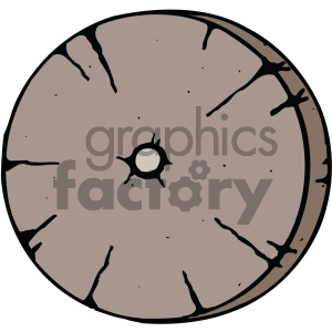 wooden wheel cartoon image clipart. Commercial use image # 405430