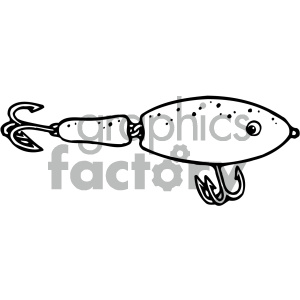 fishing lure black white clipart. Royalty-free image # 405443