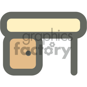 desk furniture icon clipart. Commercial use icon # 405672