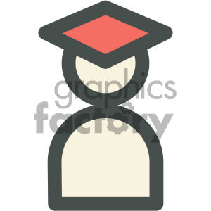 graduate education icon clipart. Commercial use image # 405697