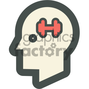 brain training education icon clipart. Royalty-free image # 405710