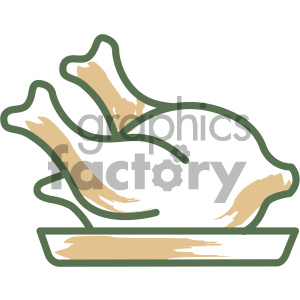chicken food vector flat icon design clipart. Royalty-free icon # 405739