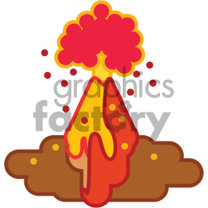 volcano eruption nature icon clipart. Royalty-free image # 405764