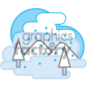 icon nature weather snow winter mountains