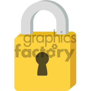 padlock vector flat icon clipart. Commercial use image # 405777