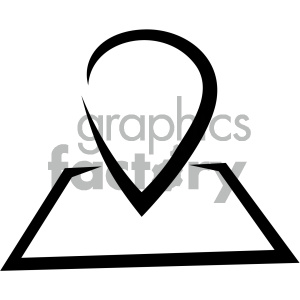 navigation map marker vector flat icon clipart. Royalty-free image # 405817