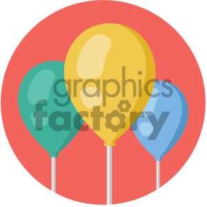 balloons circle background vector flat icon clipart. Royalty-free icon # 405839
