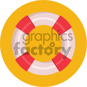 lifesaver circle background vector flat icon clipart. Royalty-free image # 405859