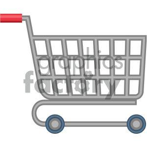 shopping cart vector flat icon clipart. Royalty-free image # 405879