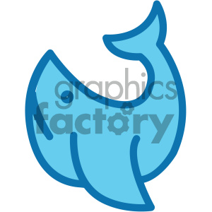 whale ocean icon clipart. Commercial use image # 405930