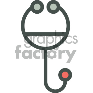 stethoscope medical vector icon clipart. Royalty-free image # 405941