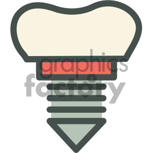 tooth implant dental vector flat icon designs clipart. Royalty-free image # 405951