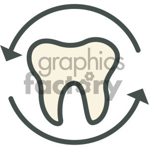 teeth dental vector flat icon designs clipart. Royalty-free image # 405966
