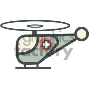 life flight helicopter medical vector icon clipart. Royalty-free image # 405975
