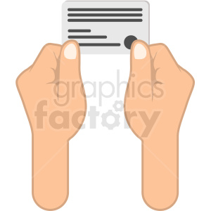 hands holding credit card clipart. Royalty-free image # 406042
