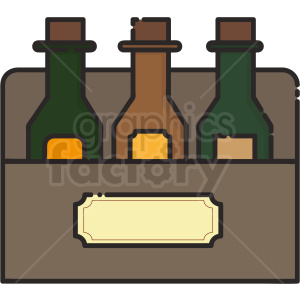 beer bottles vector icon art clipart. Royalty-free image # 406117
