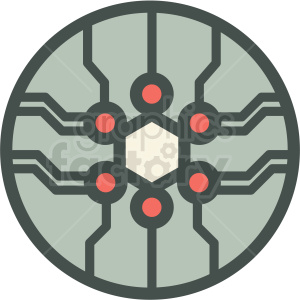 nanoelectronics technology icon clipart. Royalty-free image # 406176